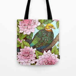 Whistling Fruit Dove in Spring Tote Bag