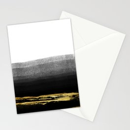 Black & Gold Stripes on White - Mix & Match with Simplicty of life Stationery Cards