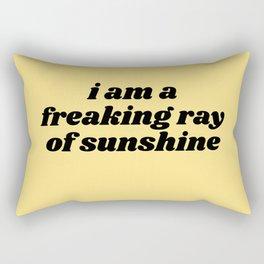 freaking ray of sunshine Rectangular Pillow