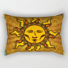 Bright Sun #2 Psychedelic Character Icon Tapestry Rectangular Pillow