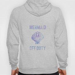 Mermaid Off Duty - Purple & Blue Seashell Hoody