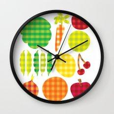 Gingham Goods Wall Clock