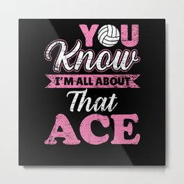Ace Volleyball Player Volleyball Player Metal Print