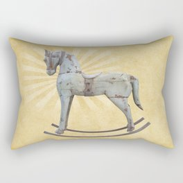 Vintage rocking horse - Toy Photography #Society6 Rectangular Pillow