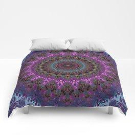 colorful fractal kaleidoscope Comforters