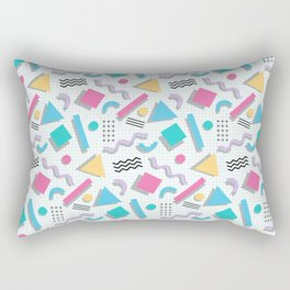 Memphis Shapes Rectangular Pillow