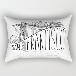 San Francisco Golden Gate Swoop Rectangular Pillow