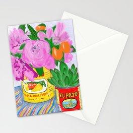 Flores, El Pato, Still Life Stationery Cards