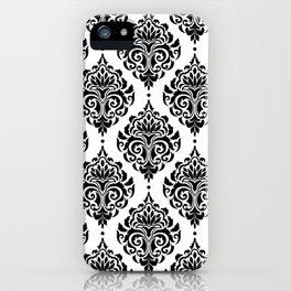 Black and White Damask iPhone Case