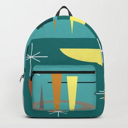 Turquoise Mid Century Modern Backpack
