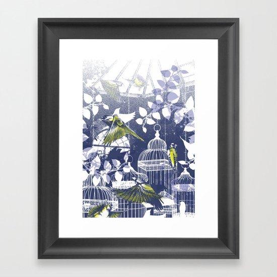 Green Finch Green House Framed Art Print