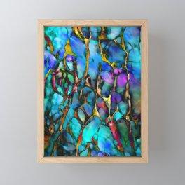 Colored Tafoni 2 Framed Mini Art Print