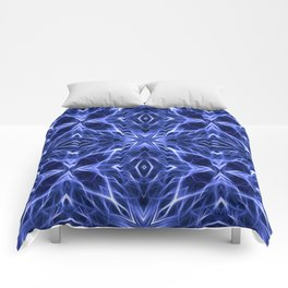 Abstract Geometric Light Factual Deep Blue Comforters