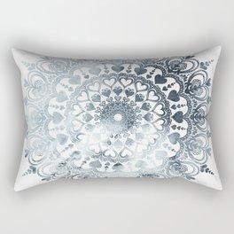 Love Mandala Denim Rectangular Pillow