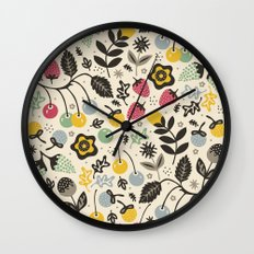 Very Berry Wall Clock