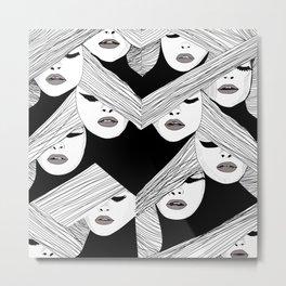 Audrey pattern Metal Print