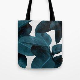 Indigo Plant Leaves Tote Bag