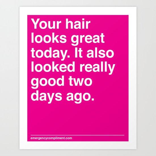 Your Hair Art Print