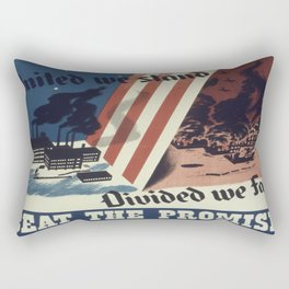 Vintage poster - United We Stand Rectangular Pillow