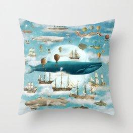 Ocean Meets Sky - option Throw Pillow