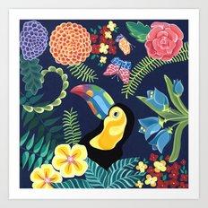 Natures Confetti Toucan Art Print