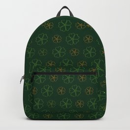 SHOWERING CLOVERS: GREEN / ORANGE Backpack