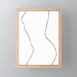 Nude Minimal Drawing Illustration Framed Mini Art Print
