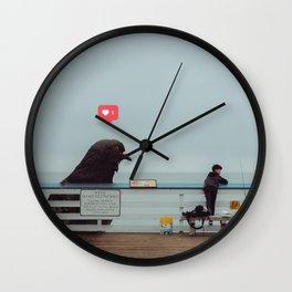 Don't Feed The Birds Wall Clock