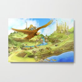 Flying On Polly Over an Enchanted Land Metal Print