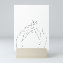 Hands line drawing illustration - Abi Mini Art Print