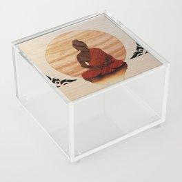 Buddha marquetry Acrylic Box