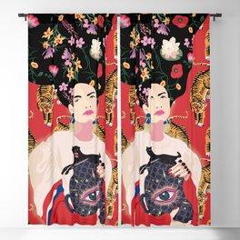 Let your mind blossom - Fashion portrait Blackout Curtain