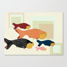 bubble-eye menagerie Canvas Print