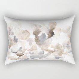 180630 Grey Abstract Watercolour Black Brown 12   Watercolor Brush Strokes Rectangular Pillow