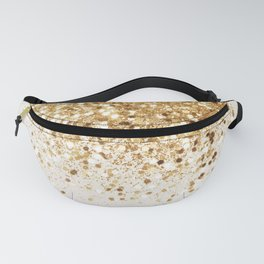 Sparkling Gold Glitter Glam #2 #shiny #decor #art #society6 Fanny Pack