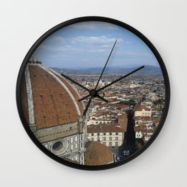 Firenze From Above Wall Clock
