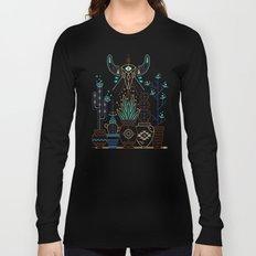 Santa Fe Garden – Turquoise & Brown Long Sleeve T-shirt