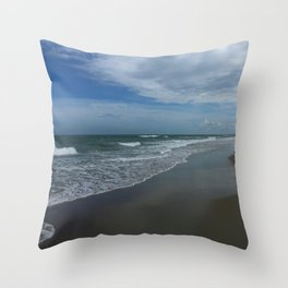 Serene Beach Scene Throw Pillow