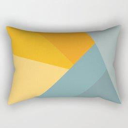 Abstract Mountain Sunrise Rectangular Pillow