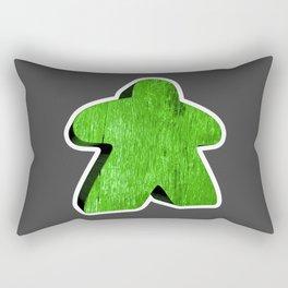 Giant Green Meeple Rectangular Pillow