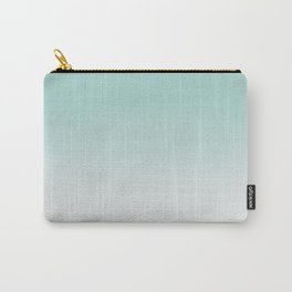 Ombre Duchess Teal and White Smoke Carry-All Pouch