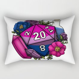Pride Bisexual D20 Tabletop RPG Gaming Dice Rectangular Pillow