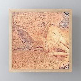 Sketchy Fennec Fox Framed Mini Art Print