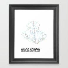 Wildcat Mountain, NH - Minimalist Trail Art Framed Art Print