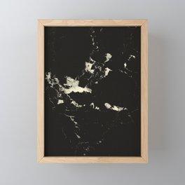 Black Marble and Blush Yellow #1 #decor #art #society6 Framed Mini Art Print