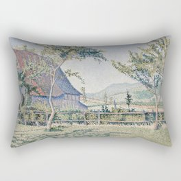 Comblat-le-Château, the Meadow Rectangular Pillow