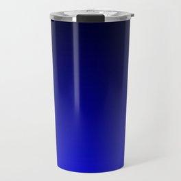 Black and Cobalt Gradient Travel Mug