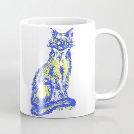 Mischievous over skeleton cat Coffee Mug