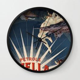 Pétrole Stella Wall Clock