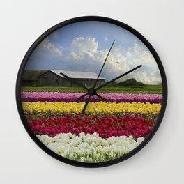 Hope Is - Flower Art Wall Clock